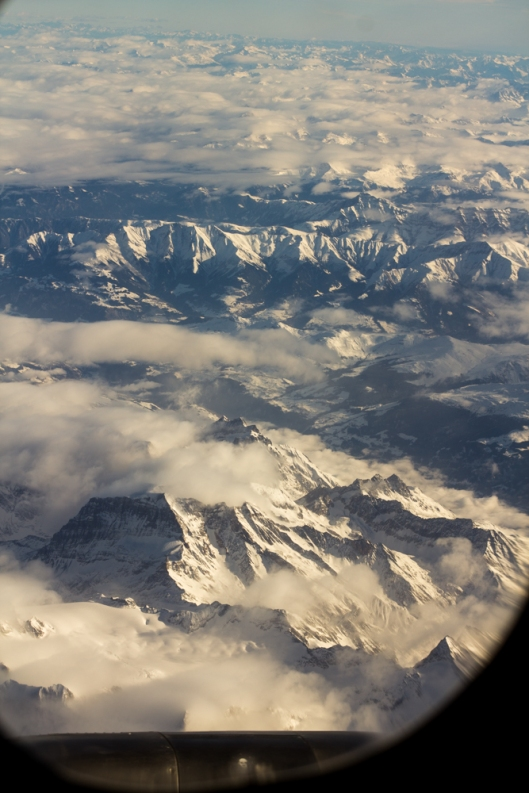 Soaring over the Swiss Alps